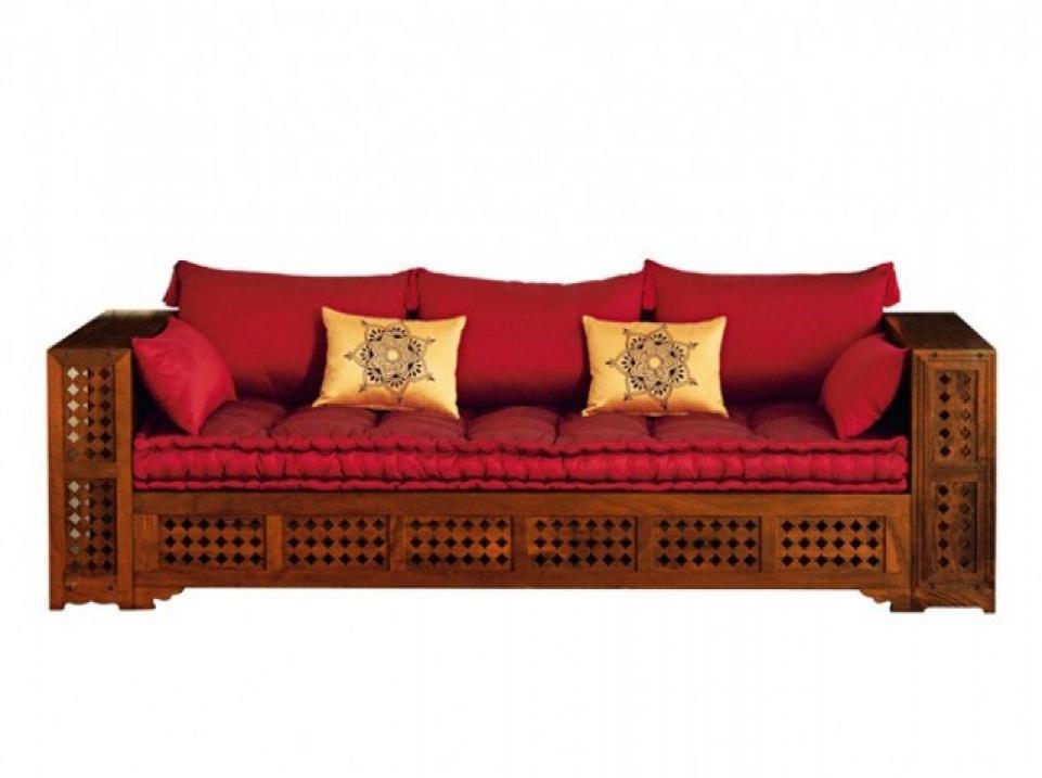 photos canap en bois marocain. Black Bedroom Furniture Sets. Home Design Ideas