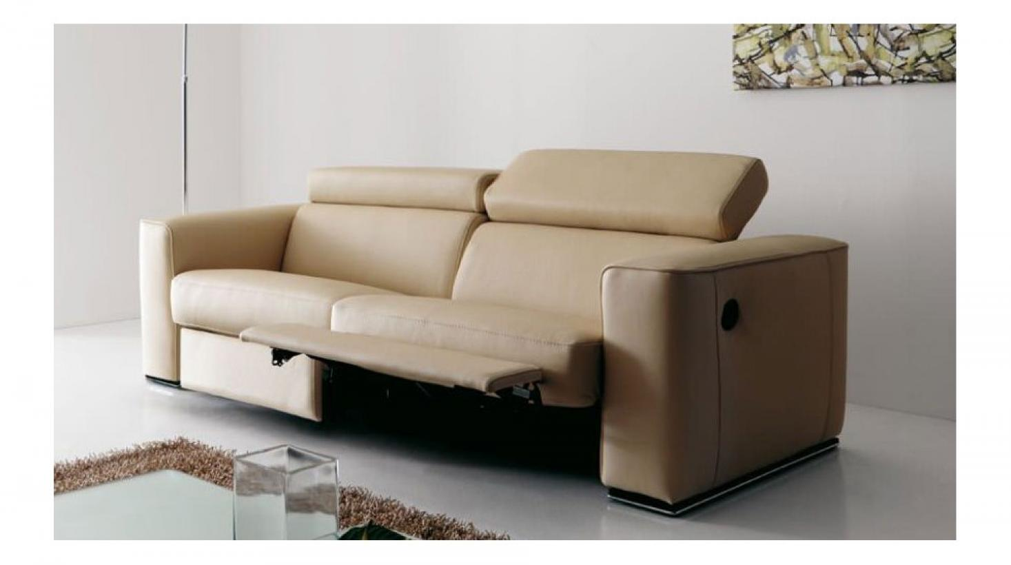 Photos canap electrique cuir for Canape relaxation