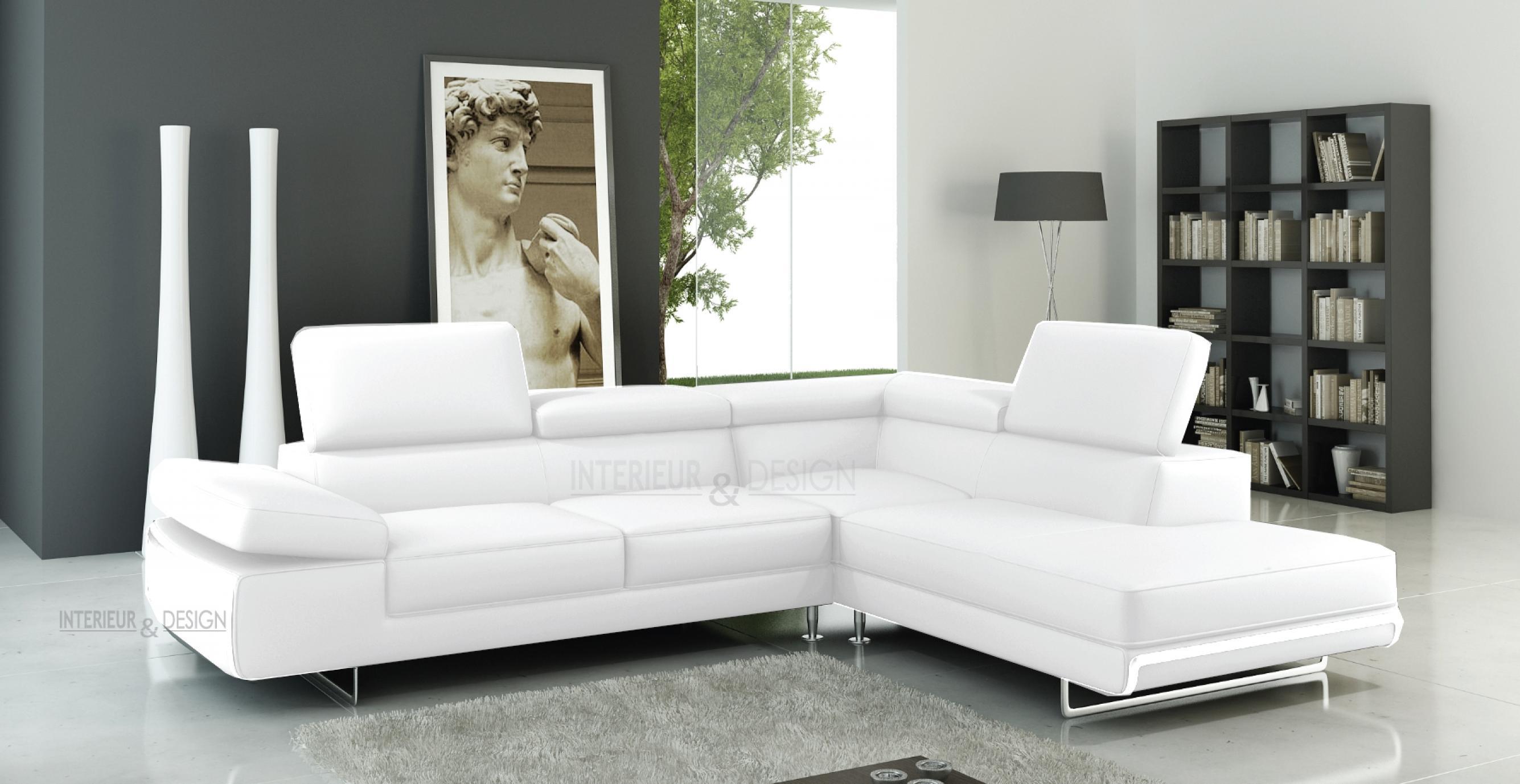 photos canap d 39 angle cuir blanc. Black Bedroom Furniture Sets. Home Design Ideas