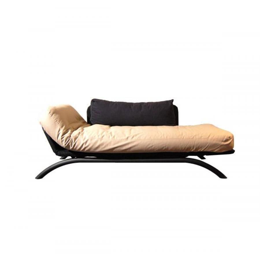 Canape futon convertible 2 places for Canape 2 places arrondi