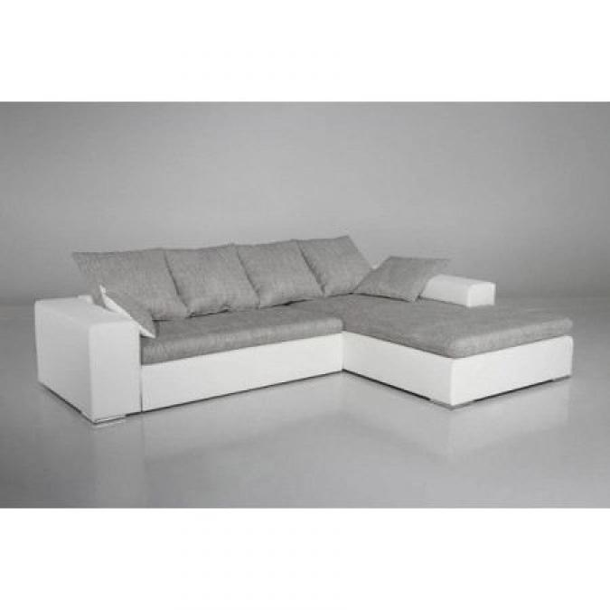 Photos canap gris et blanc cdiscount for Canape gris et blanc