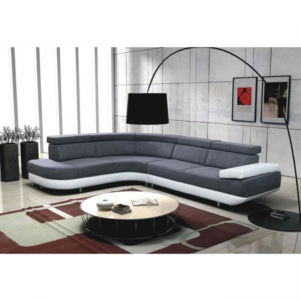 photos canap gris et blanc cdiscount. Black Bedroom Furniture Sets. Home Design Ideas