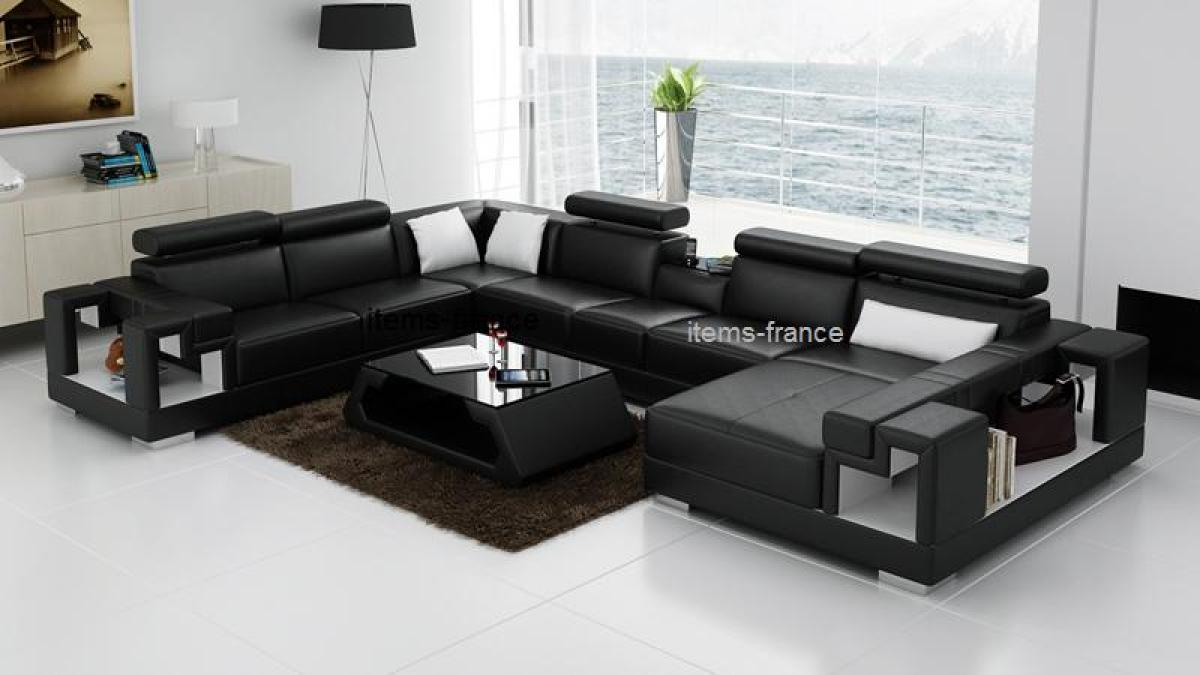 Photos canap d 39 angle conforama cuir for Canapes lits conforama