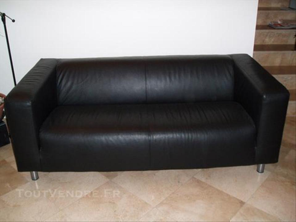 Photos canap klippan ikea cuir noir - Ikea canape cuir 2 places ...