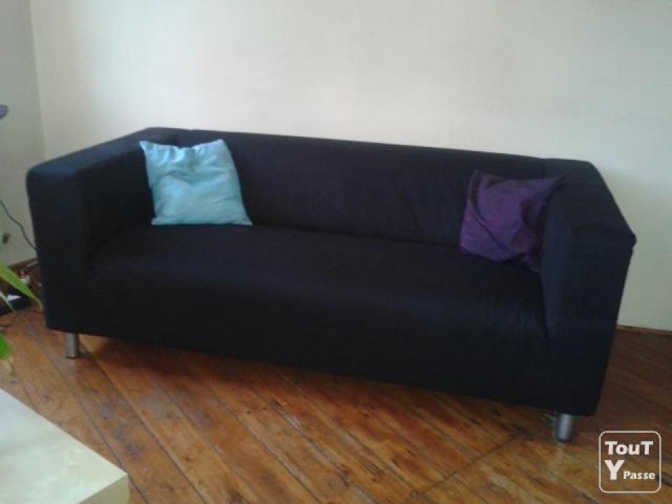 photos canap klippan ikea 3 places. Black Bedroom Furniture Sets. Home Design Ideas