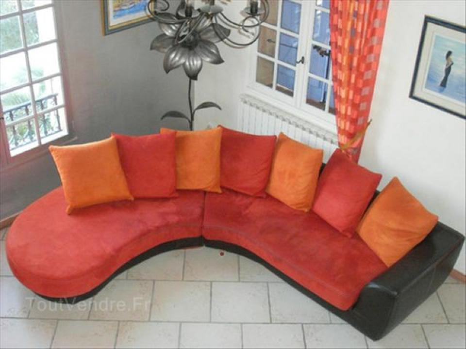 Photos canap marron et orange for Canape orange