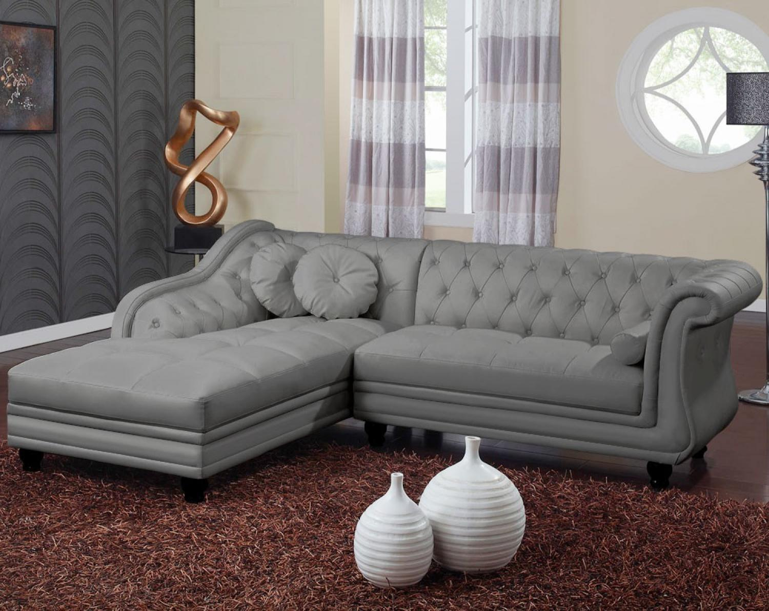 Photos canap m ridienne chesterfield - Canape chesterfield cuir gris ...