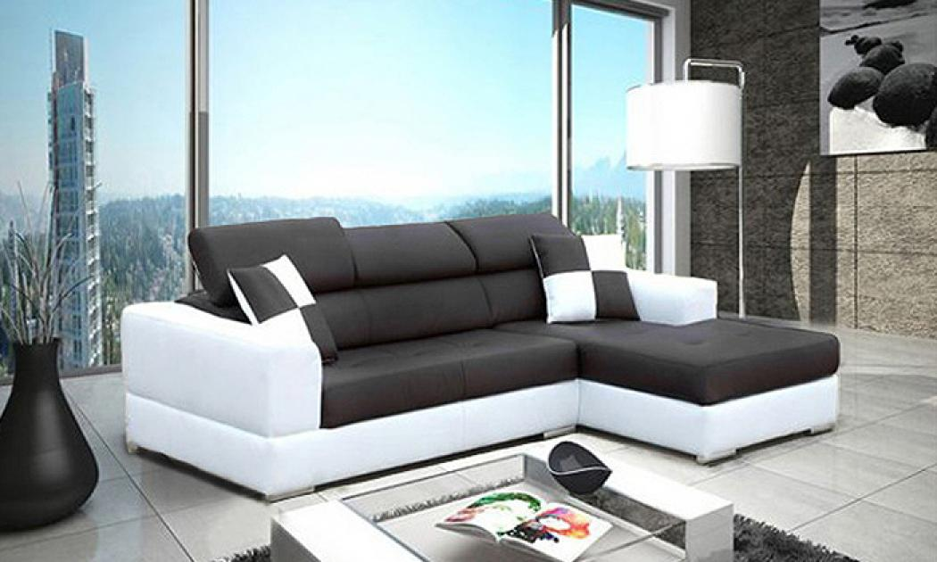 photos canap noir et blanc simili cuir. Black Bedroom Furniture Sets. Home Design Ideas