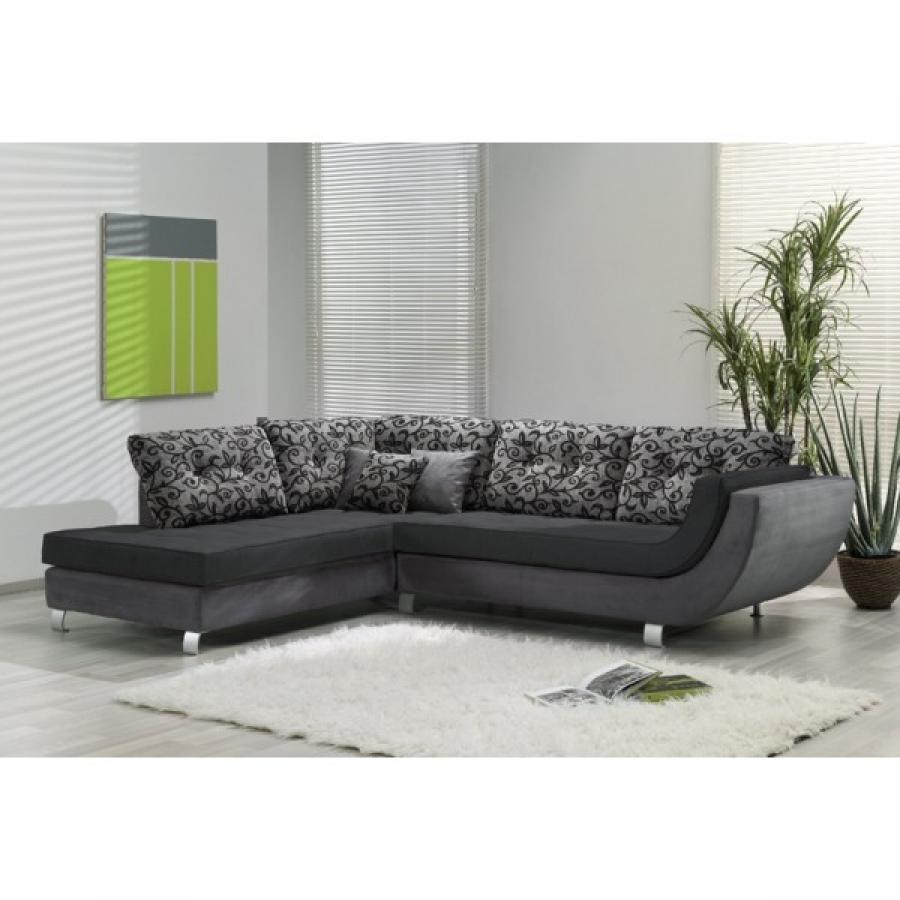 photos canap d 39 angle gris et noir. Black Bedroom Furniture Sets. Home Design Ideas