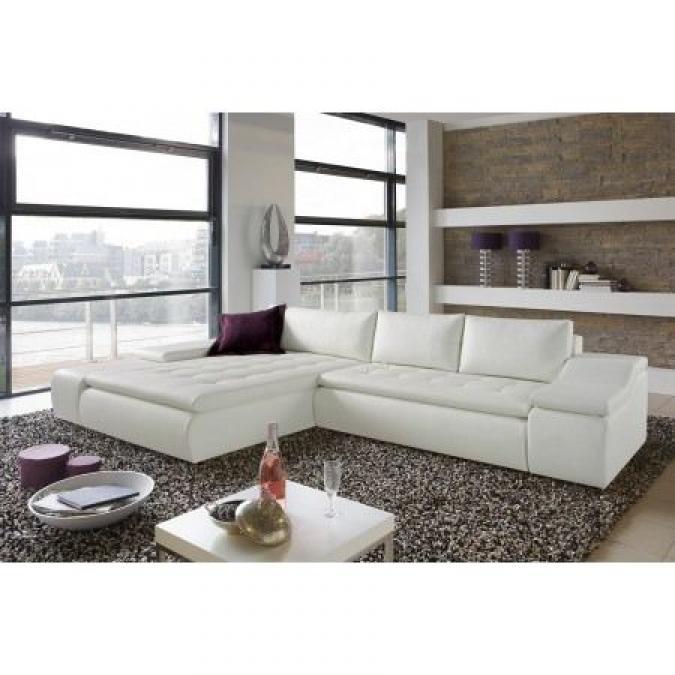 photos canap d 39 angle tissu blanc. Black Bedroom Furniture Sets. Home Design Ideas