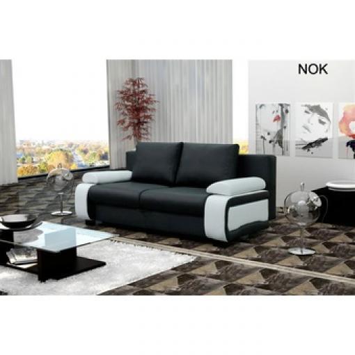 photos canap convertible 2 places vittorio coloris noir blanc. Black Bedroom Furniture Sets. Home Design Ideas