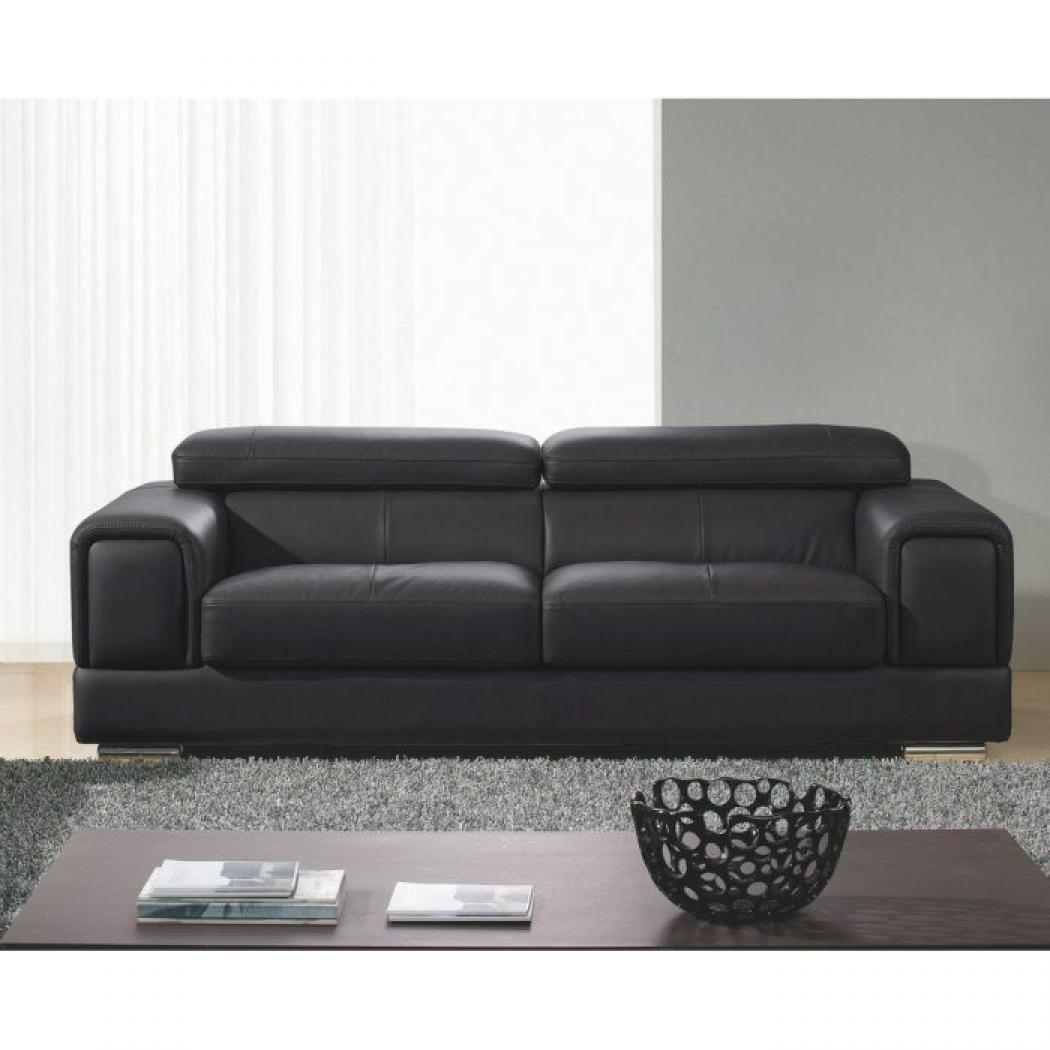 photos canap convertible cuir noir. Black Bedroom Furniture Sets. Home Design Ideas