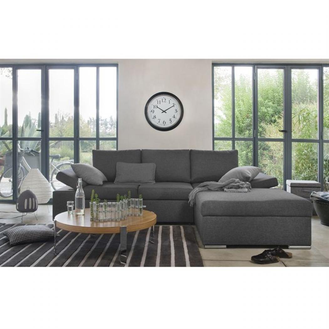 photos canap convertible d 39 angle gris. Black Bedroom Furniture Sets. Home Design Ideas