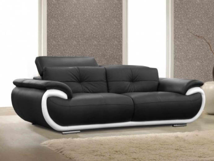 Photos canap design pas cher noir et blanc - Canape gris et blanc pas cher ...