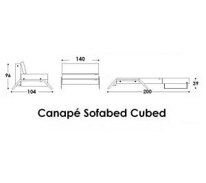 canapé lit design sofabed cubed 14