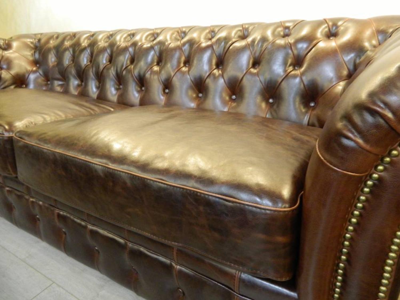 Photos canap chesterfield cuir marron - Canape chesterfield marron ...