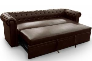 canapé chesterfield cuir convertible 16