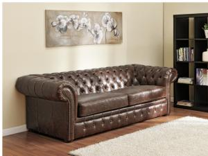canapé chesterfield convertible cuir 3