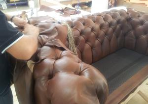 canapé chesterfield convertible cuir 9
