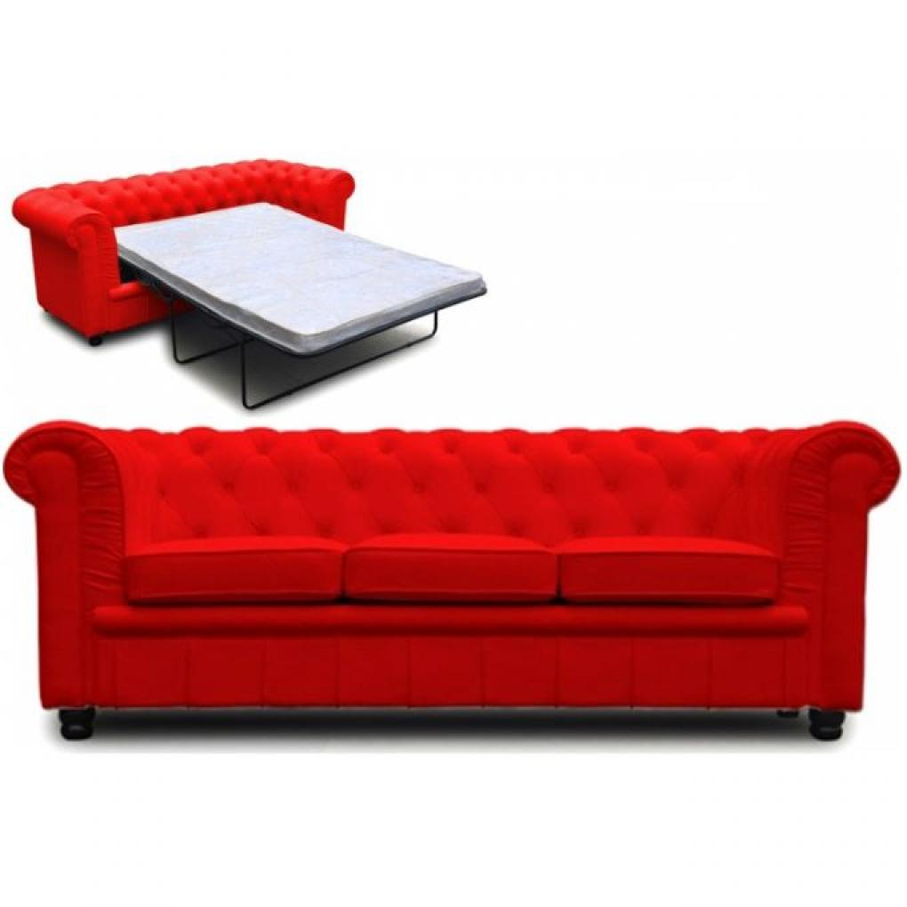 photos canap chesterfield convertible rouge. Black Bedroom Furniture Sets. Home Design Ideas