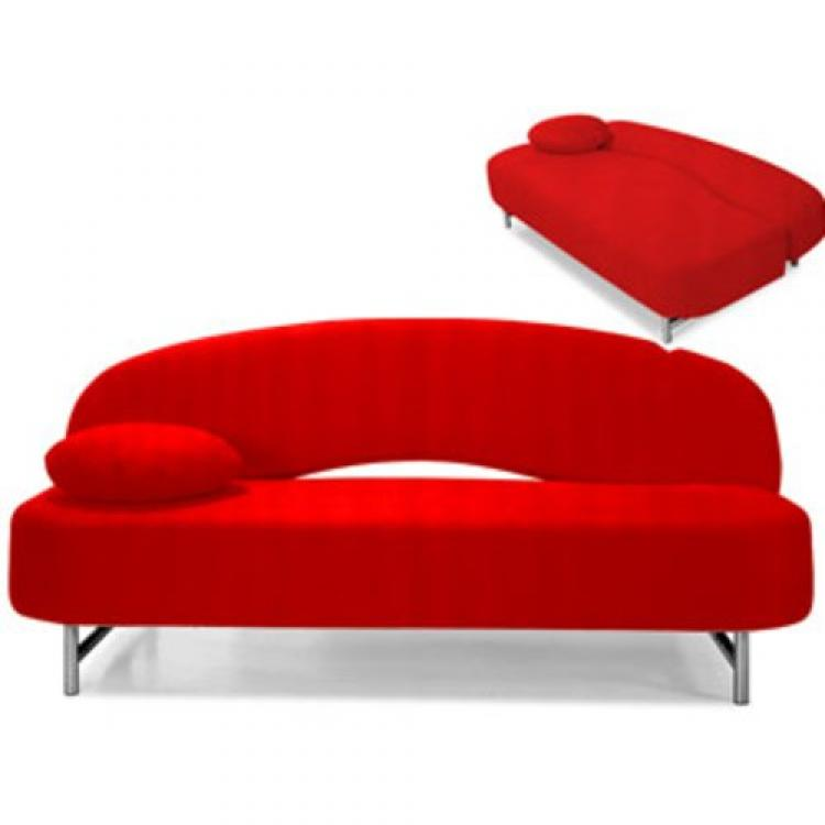Photos canap chesterfield convertible rouge for Canape habitat convertible