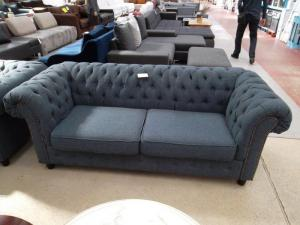 canapé chesterfield tissu gris 13