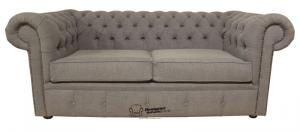 canapé chesterfield tissu gris 15