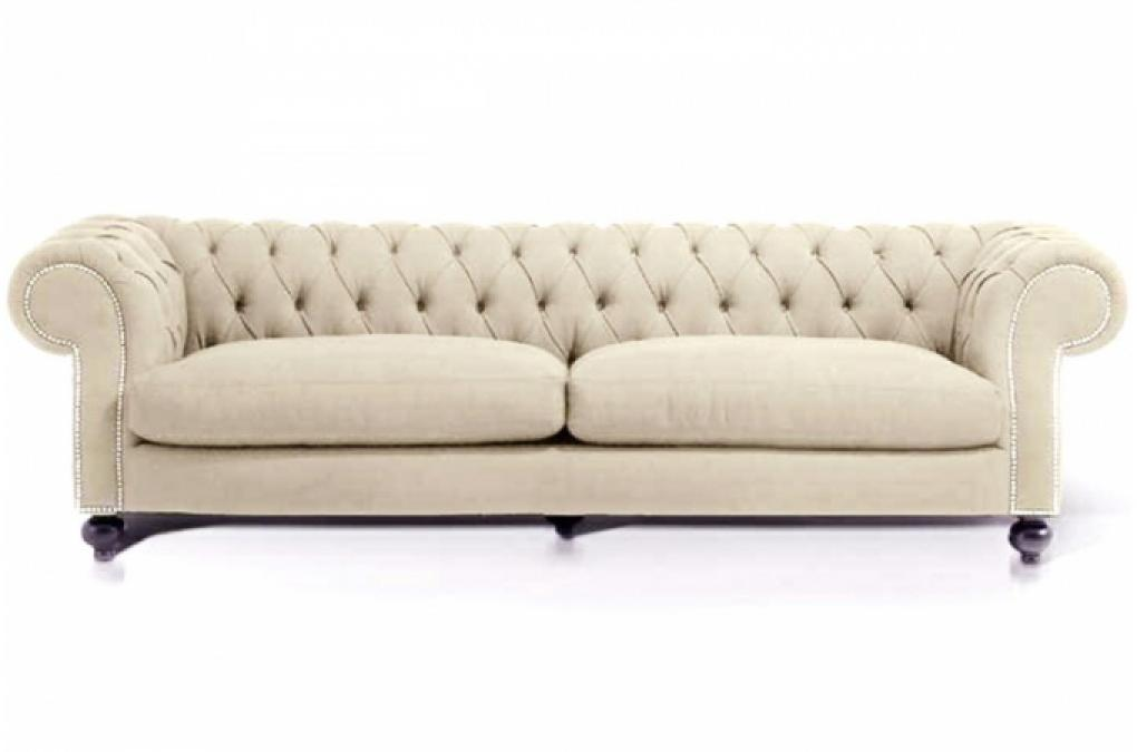 Photos canap chesterfield tissu beige - Canape chesterfield beige ...