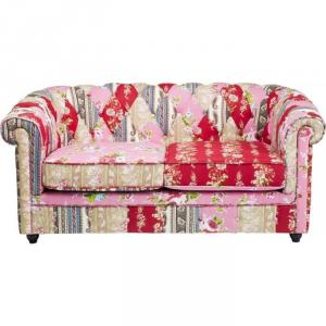 canapé chesterfield tissu patchwork