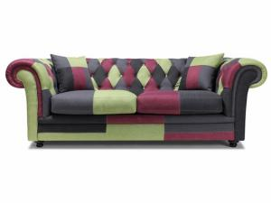 canapé chesterfield tissu patchwork 14