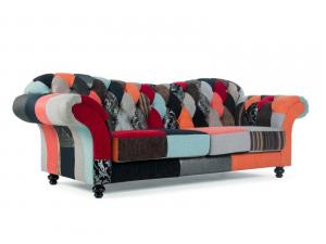 canapé chesterfield tissu patchwork 17