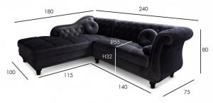 canapé chesterfield velours gris 7