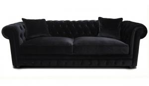 canapé chesterfield velours gris 9