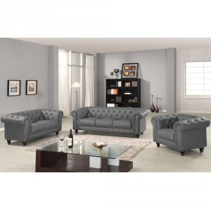 canapé chesterfield velours gris 11