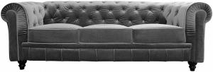 canapé chesterfield velours gris 15