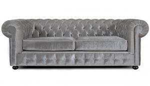 canapé chesterfield velours gris 17