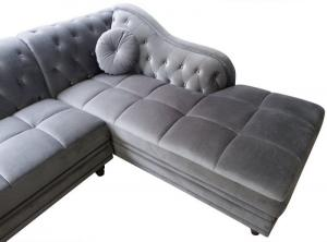 canapé chesterfield velours gris 20