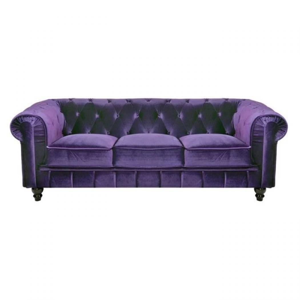 photos canap chesterfield velours violet. Black Bedroom Furniture Sets. Home Design Ideas