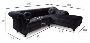 canapé chesterfield velours taupe 4