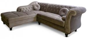 canapé chesterfield velours taupe 12