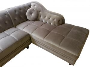 canapé chesterfield velours taupe 17