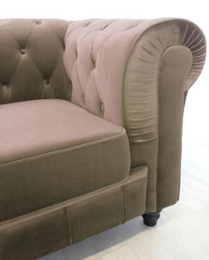 canapé chesterfield velours taupe 19