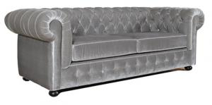 canapé chesterfield velours 3 places 6