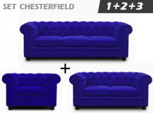 canapé chesterfield velours 3 places 7