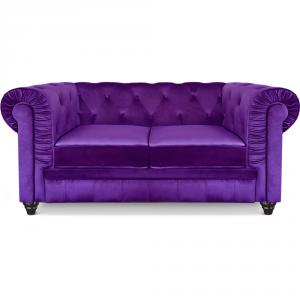 canapé chesterfield velours 3 places 8