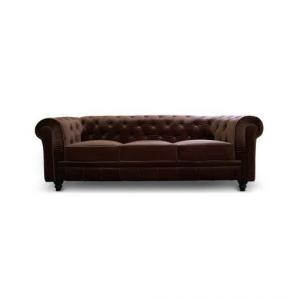canapé chesterfield velours 3 places 11
