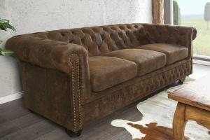 canapé chesterfield velours 3 places 18