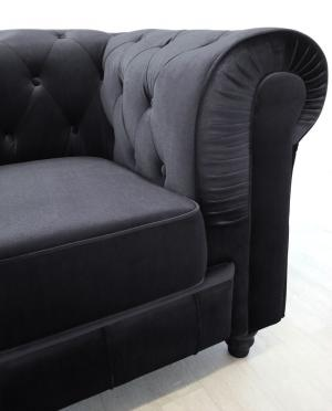 canapé chesterfield velours 3 places 20