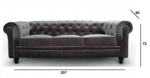 canapé chesterfield velours convertible