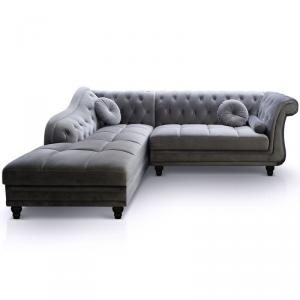 canapé chesterfield velours convertible 10